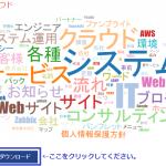 生成したワードクラウドのPNG画像が簡単にダウンロードできます