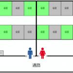 トイレ個室の利用状況をレイアウト図にリアルタイム反映