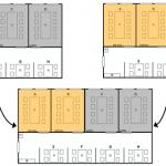 会議室の利用状況をレイアウト図に反映